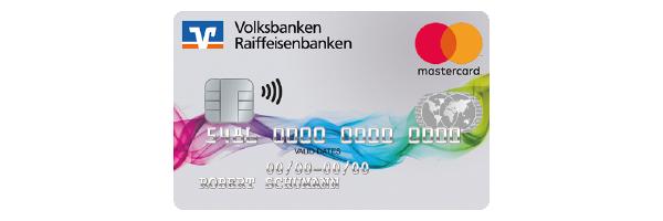 Kreditkartenmotiv Farbenspiel der Volksbank Raiffeisenbank Rosenheim-Chiemsee eG