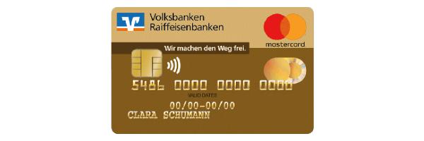 """Mastercard, Motiv """"Gold"""" der meine Volksbank Raiffeisenbank eG"""