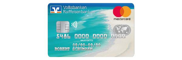 Kreditkartenmotiv Sandstrand der Volksbank Raiffeisenbank Rosenheim-Chiemsee eG